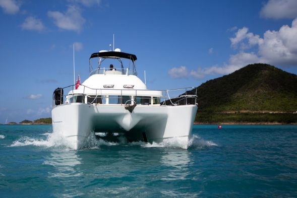 SOLD Lagoon Power 43  in Jolly Harbour Antigua and Barbuda Q-QUEENIE  Preowned Power