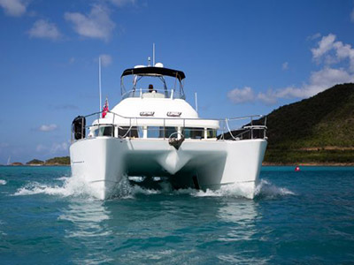 SOLD Lagoon Power 43  in Jolly Harbour Antigua and Barbuda Q-QUEENIE Thumbnail for Listing Preowned Power