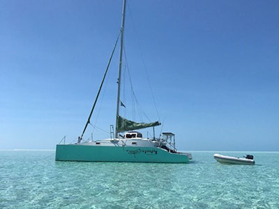 Catamarans DRAGONFLY, Manufacturer: CUSTOM ONSET MARINE, Model Year: 2014, Length: 33ft, Model: Kurt Hughes 30, Condition: Used, Status: Catamaran for Sale, Price: USD 85500