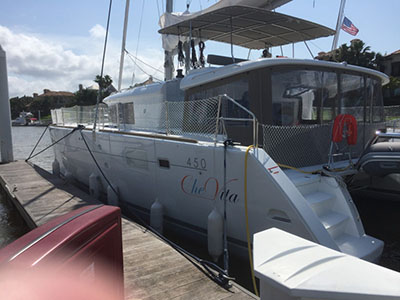 Catamaran for Sale Lagoon 450 F  in Kemah Texas (TX)  CHE VITA  Preowned Sail