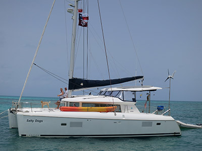 SOLD Lagoon 420  in Fajardo Puerto Rico SALTY DOGS Thumbnail for Listing Preowned Sail