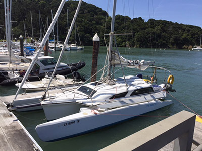 Trimaran for Sale Telstar 28   in Alameda California (CA)  TRY BABY TRI Thumbnail for Listing Preowned Sail