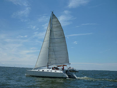 Catamaran for Sale Privilege 39  in Patchogue New York (NY)  RHYTHM & BLUES Thumbnail for Listing Preowned Sail