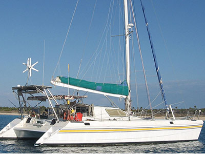 Catamaran for Sale St. Francis 44 Mark II  in Rio Dulce Guatemala BIRDWING Thumbnail for Listing Preowned Sail