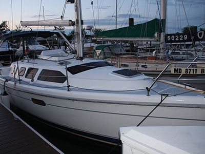 SOLD Hunter 310  in Edgewater  Maryland (MD)  NAUTI BUOY  Preowned Sail