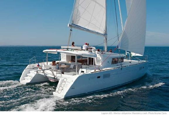 SOLD Lagoon 450  in St. Martin LET IT BE  Preowned Sail