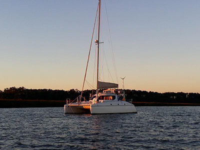 Catamarans SAVING GRACE, Manufacturer: CHARTER CATS SA, Model Year: 2003, Length: 35ft, Model: Wildcat 350, Condition: Preowned, Listing Status: Catamaran for Sale, Price: USD 139000