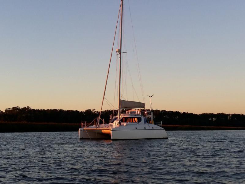 SOLD Wildcat 350  in Marsh Harbor Bahamas SAVING GRACE  Preowned Sail