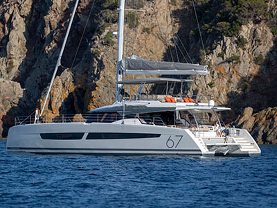 New Sail Catamaran for Sale  Alegria 67