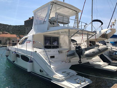 Catamarans ZORRO, Manufacturer: ROBERTSON & CAINE, Model Year: 2012, Length: 41ft, Model: Leopard 39 PC, Condition: Preowned, Listing Status: Catamaran for Sale, Price: EURO 249000