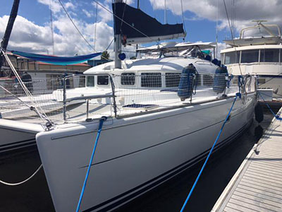 SOLD Lagoon 380  in Jacksonville Florida (FL)  I DREAM OF JEANNE Thumbnail for Listing Preowned Sail