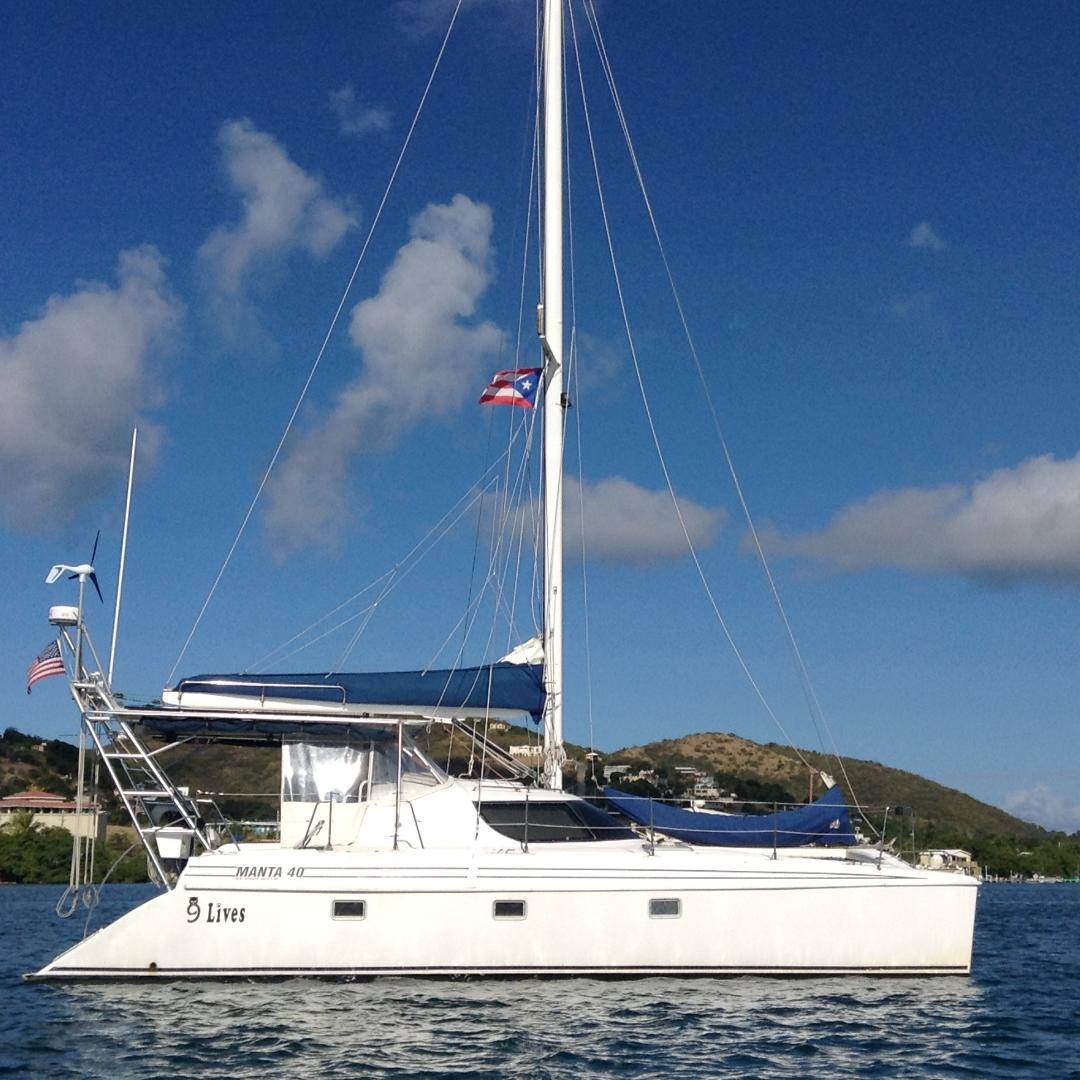 Used Sail Catamaran for Sale 1997 Manta 40