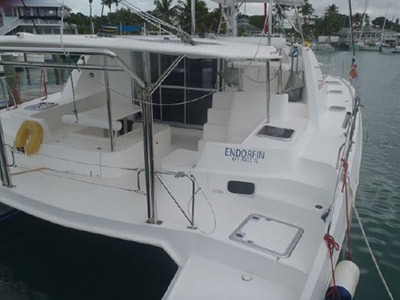 Acceptance of Vessel Leopard 44  in Abaco Bahamas ENDORFIN  Preowned Sail