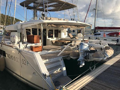 Acceptance of Vessel Lagoon 52 F  in St. Martin JOY  Preowned Sail