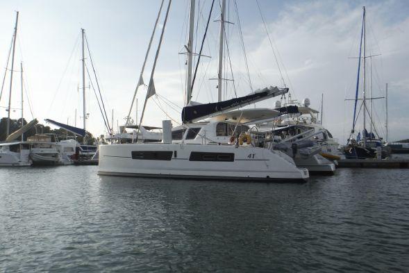 Catana 41 and Fountaine Pajot Lipari 41 Sailing Catamarans.