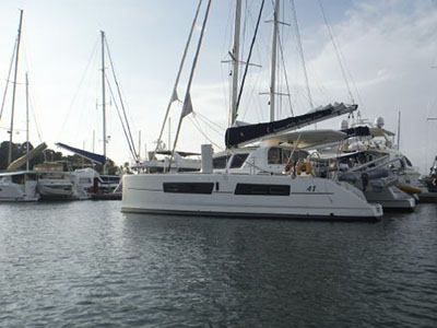 Catamarans SANTA CRUZ, Manufacturer: CATANA, Model Year: 2008, Length: 41ft, Model: Catana 41, Condition: Preowned, Listing Status: Catamaran for Sale, Price: EURO 215000