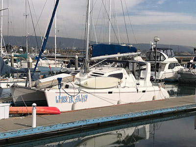 Catamaran for Sale Leopard 38  in Alameda California (CA)  WHISKER AWAY Thumbnail for Listing Preowned Sail