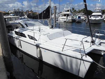 Acceptance of Vessel Gemini 105Mc  in Indiantown Florida (FL)  MIRAGE  Preowned Sail