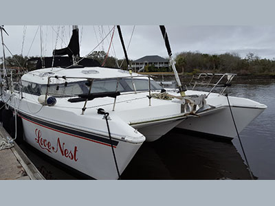 Catamarans LOVE NEST, Manufacturer: PROUT, Model Year: 1994, Length: 39ft, Model: Prout 39, Condition: Preowned, Listing Status: Catamaran for Sale, Price: USD 147500