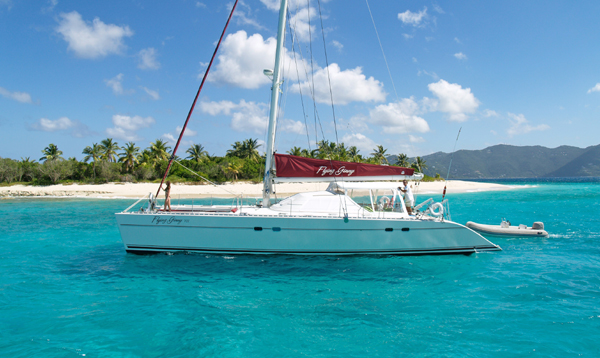 Catamaran for Sale Lagoon 55  in Road Town British Virgin Islands FLYING GINNY VII  Preowned Sail