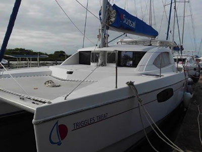 Catamaran for Sale Leopard 38  in True Blue Bay Grenada TRIGGLES TREAT  Preowned Sail
