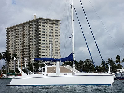 Catamarans THE FRANCES MAE, Manufacturer: ALWOPLAST, Model Year: 2002, Length: 47ft, Model: Crowther 47, Condition: Preowned, Listing Status: Under Contract, Price: USD 332000