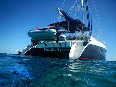 Catamarans PAWSITIVITY, Manufacturer: BROADBLUE, Model Year: 2007, Length: 41ft, Model: Broadblue 415, Condition: Preowned, Listing Status: Catamaran for Sale, Price: USD 341000
