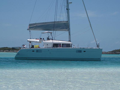 Under Contract Lagoon 450  in Nassau Bahamas PAPILLON X  Preowned Sail