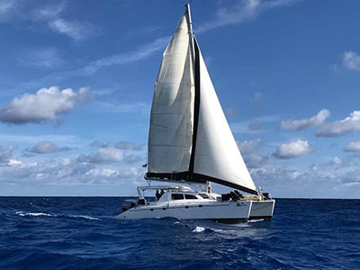 Used Sail Catamaran for Sale 1998 Leopard 45