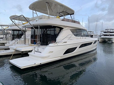 Used Power Catamaran for Sale 2014 Aquila 48
