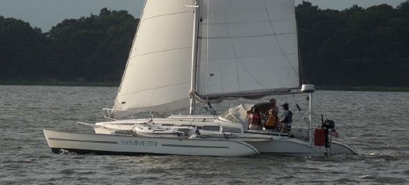 Used sail catamaran for sale: 1994 DRAGONFLY 1000 Swing Wing (33ft)