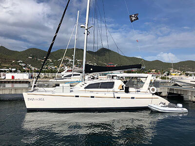 Used Sail Catamaran for Sale 2000 Leopard 45