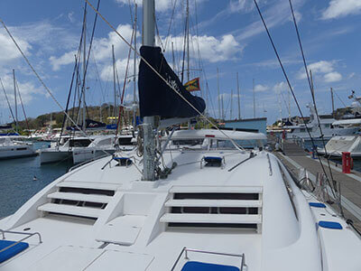 pre-owned leopard catamarans