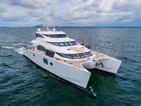 Walkthrough of a Sunreef 70 Power Catamaran   MARQUIS
