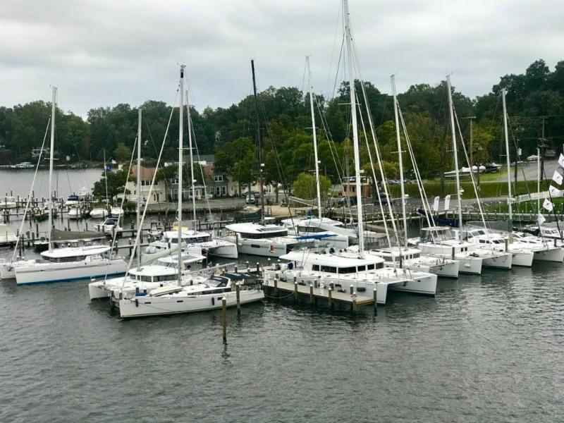 A Perfect Place For Catamarans | Catamarans For Sale at Pier 7 Resort Marina - Annapolis.MD