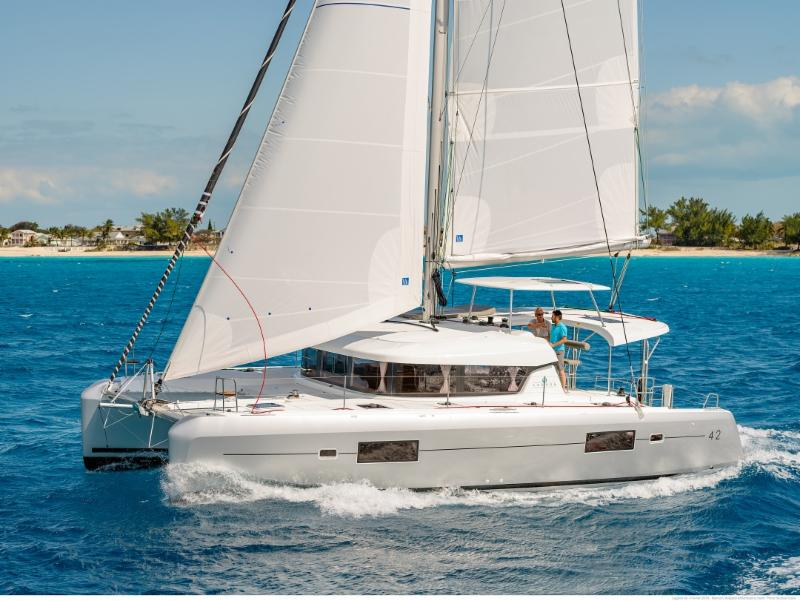 New Lagoon 42 BLUE with Water Maker available for Holidays