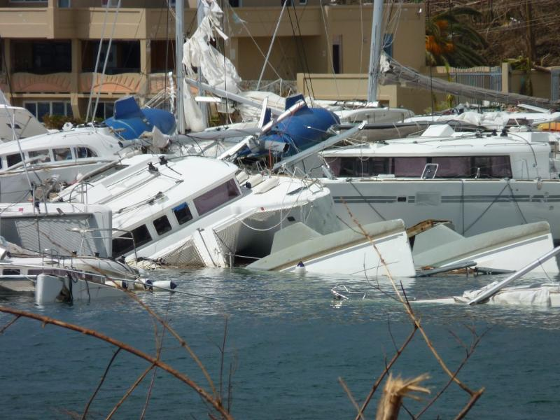 IRMA: Before and After Images of The Catamaran Company in BV