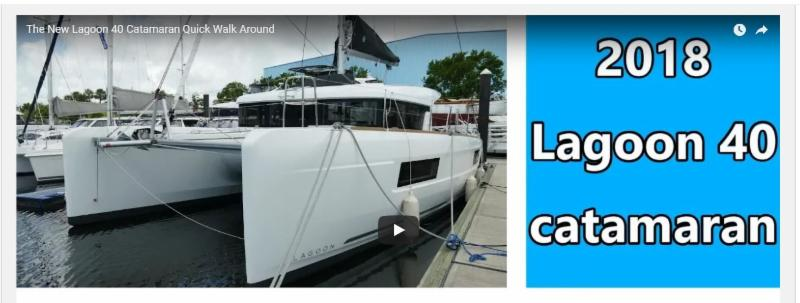 Catamaran Video: 2018 Lagoon 40 on Display August 25 in Fort Lauderdale