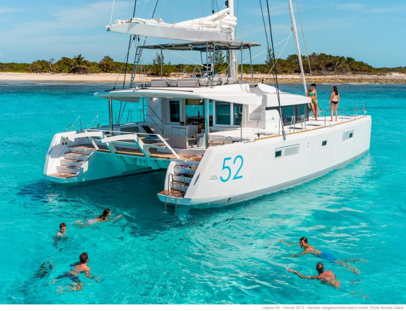 Captain Mel's New Lagoon 52  Nauti By Nature II in Tortola. 5 Cabins - 12 Guests
