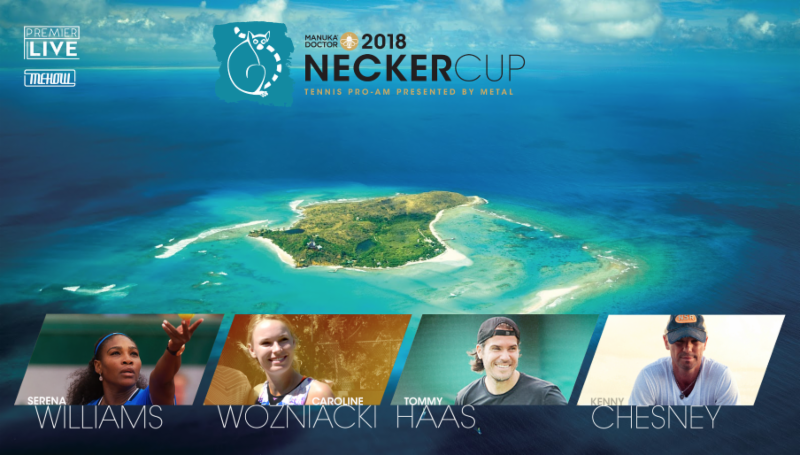 Match Point with KENNY CHESNEY.   Necker Cup Charter Package