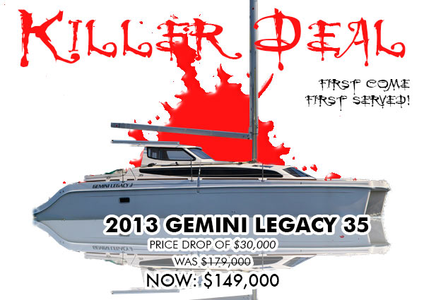KILLER DEAL:$30,000 Price Drop Aboard 2013 Gemini Legacy 35