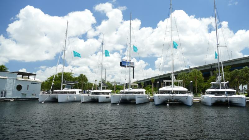 Boats on Catamaran Row:Lagoon380,40 46 Sunreef62,Voyage 440