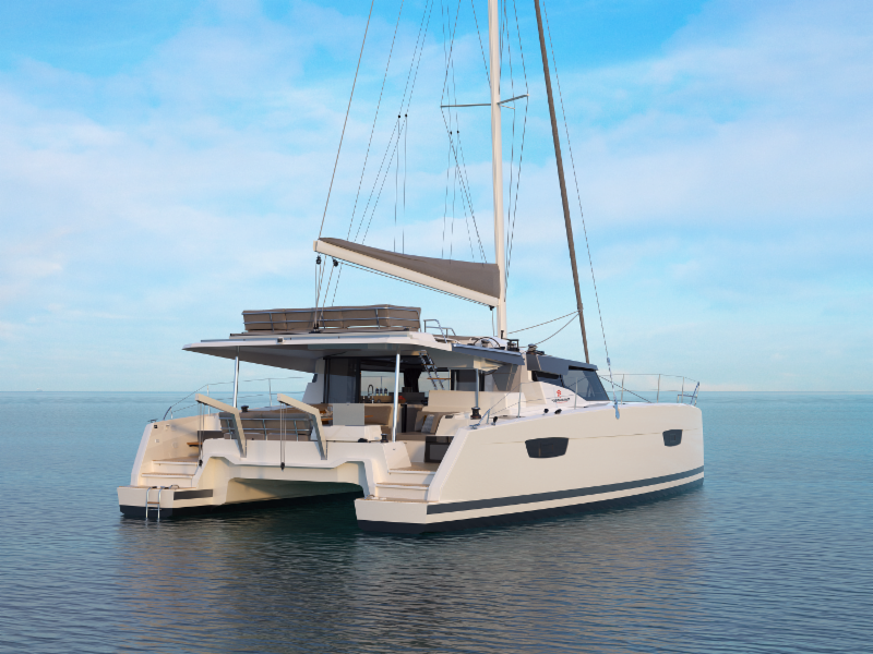The New Fountaine Pajot 45 | Miami Boat Show Catamarans On Display