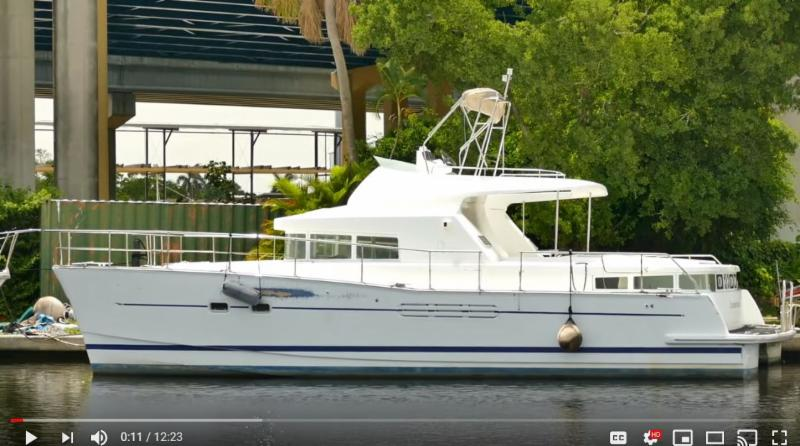 Video: Lagoon Power 43 asking $99,000 | Sell Your boat on Catamaran Row