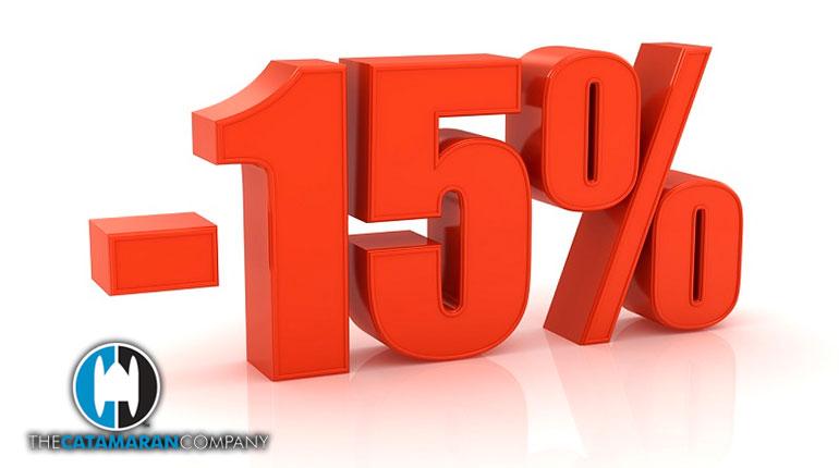 15% Charter discount on all catamarans in Tortola,BVI